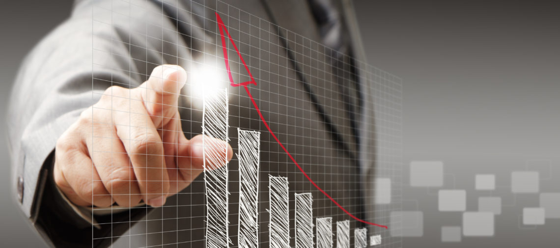 businessman hand touch virtual graph,chart, diagram